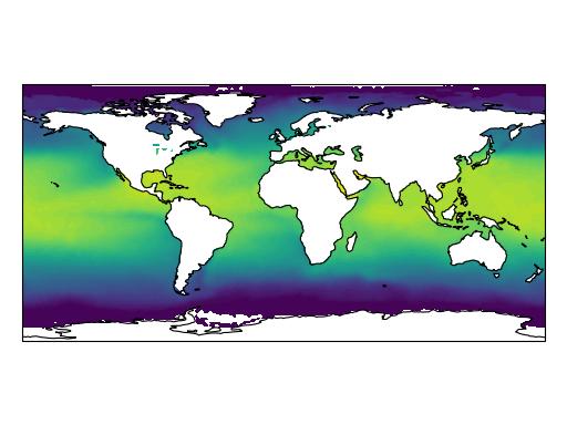 More advanced mapping with cartopy and matplotlib — cartopy